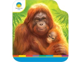Large Shaped Board Book Orangutan and Baby