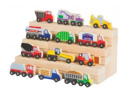 Wooden Truck Collection (12/set)