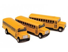 Die-Cast School Bus Set of 4