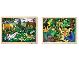 Wooden Jigsaw Puzzle 48pc (Set of 2)