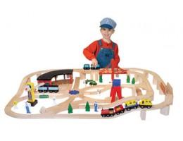 Wooden Railway Set 132pcs