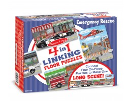 4 in 1 Linking Floor Puzzle - Emergency Rescue