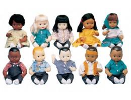 "Multi-Ethnic Dolls School Set 13"""
