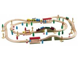 Magnetic Wood Train Set 100pcs