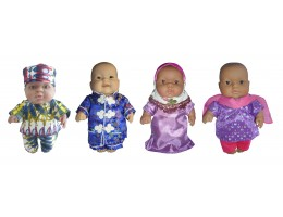 "10"" Ethnic Doll Clothing (Set of 4)"