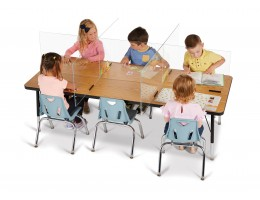 """See-Thru Table Divider Shields - 6 Station - 70.5"""" x 47.5"""" x 16"""""""