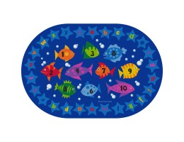 Counting Fish Educational Rug – Oval