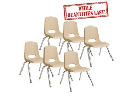 "12"" Stackable School Chair - Sand"