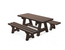 Outdoor Bench & Table Set