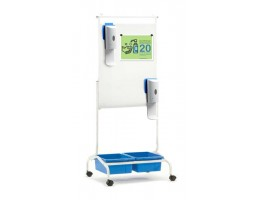 Deluxe Chart Stand Sanitizer Station