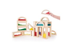 Sensory Rainbow Blocks 18pc