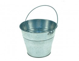 Galvanized Metal Pail. w/ Handle.