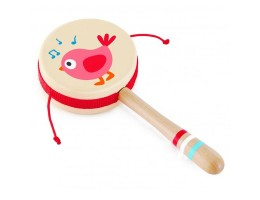 Twittering Bird Drum Shaped Rattle