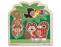 Jumbo Knob Puzzle Rainforest