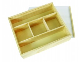 Deep Wooden Box Transparent lid