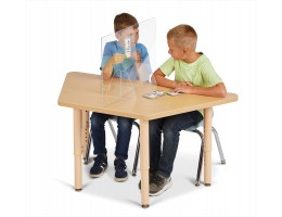 """See-Thru Table Divider Shields - 2 Station - 30"""" x 8"""" x 16"""""""