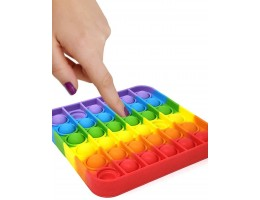 Push N Pop Square Rainbow- Large