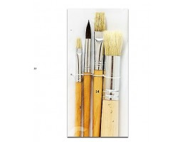 4pc Artist Brushes Asst Round and Flat