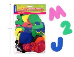 """Magnetic Foam Letters and Numbers Assorted Colours 2"""""""