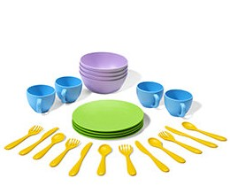 Green Toy Dish Set